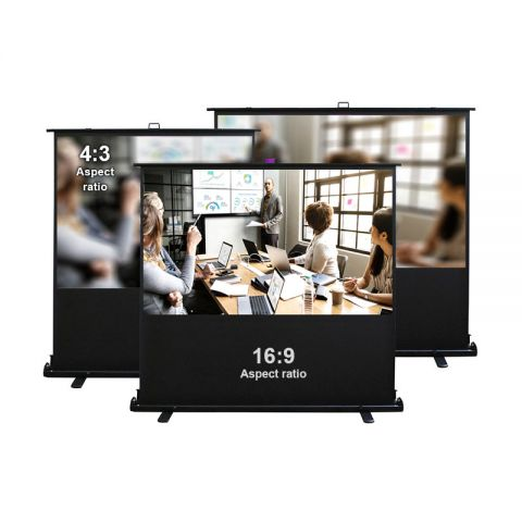 Dopah Portable Floor Pull Up Projection Screen (4:3/16:9 format). Floor Stand Screen