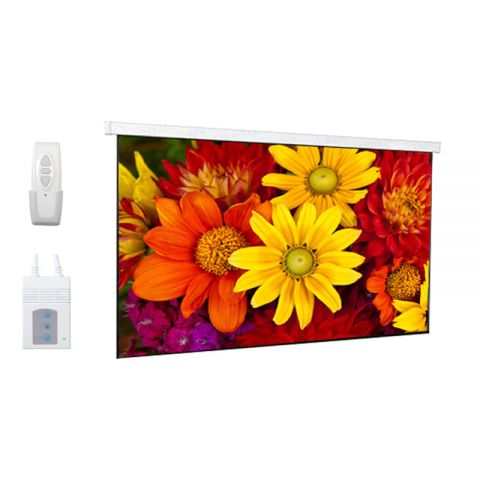"""DP Motorized/Electric Projection Screen 151""""D (73.1"""" x 131.6"""")"""