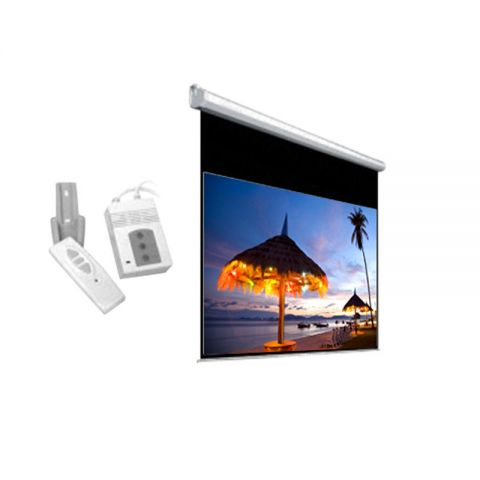 """DP Motorized/Electric Projection Screen 84"""" x 84"""""""
